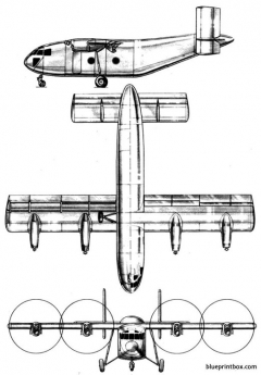 breguet br 940 integral model airplane plan