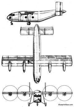 breguet br 940 integral model airplane plan