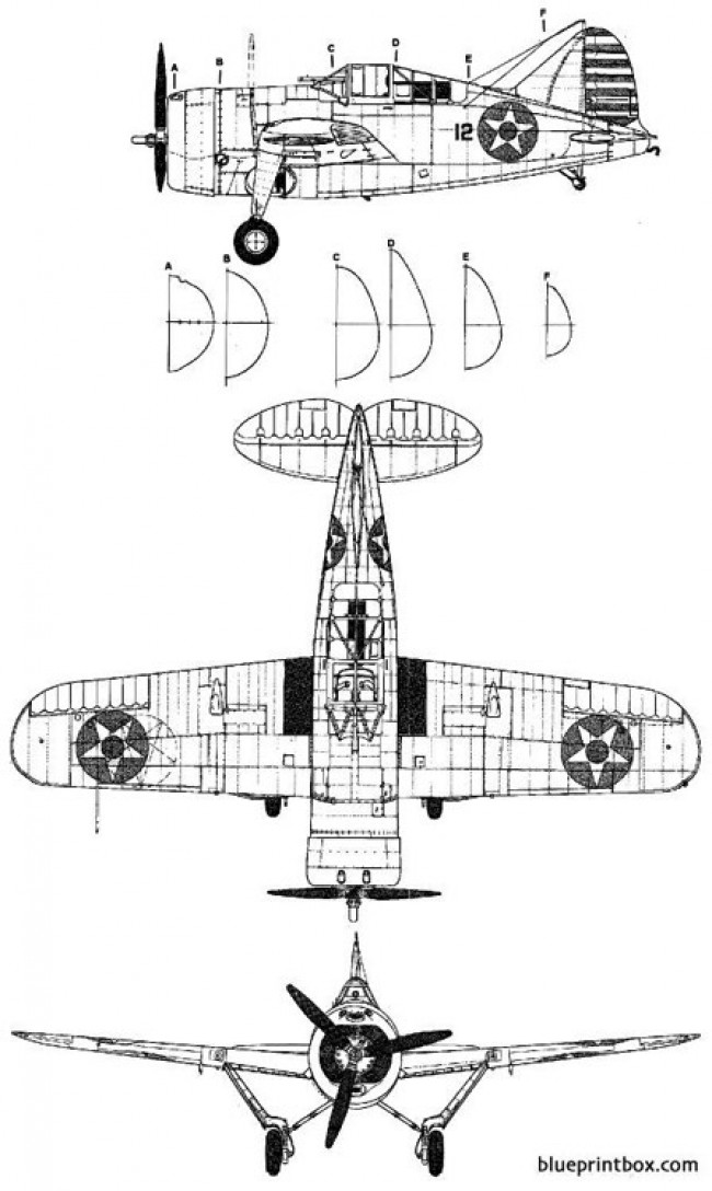 brewster f 2a buffalo model airplane plan
