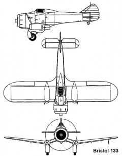bristol133 3v model airplane plan