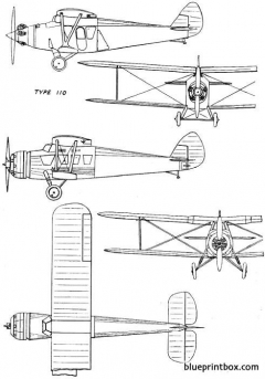 bristol 110a 1929 england model airplane plan