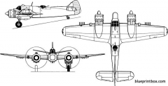 bristol 156 beaufighter model airplane plan