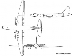 bristol 167 brabazon 1949 england model airplane plan