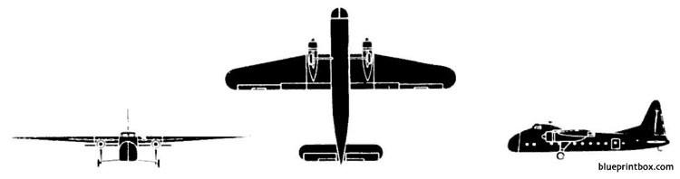bristol 170 type 31 super freighter model airplane plan