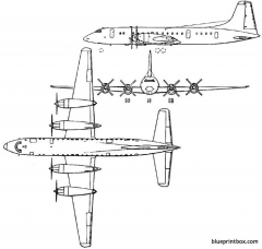 bristol 175 britannia 1952 england model airplane plan