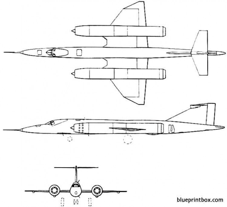bristol 188 1962 england model airplane plan