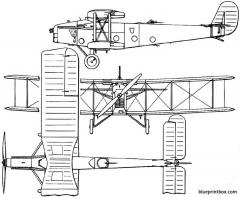 bristol 90 berkeley 1925 england model airplane plan