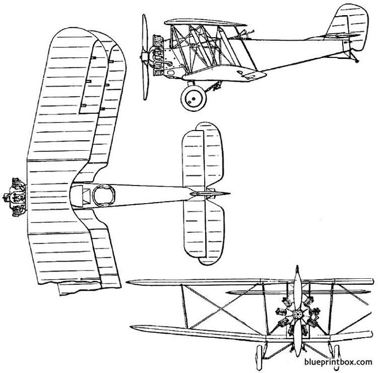 bristol 93 bloodhound 1923 england model airplane plan
