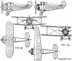 bristol badminton 1926 england model airplane plan