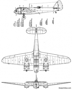bristol blenheim mk i 2 model airplane plan
