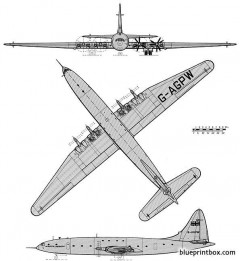 bristol brabazon model airplane plan