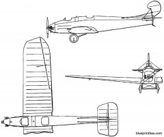 bristol brownie 1926 england model airplane plan