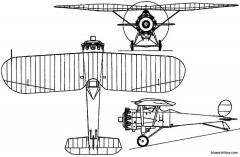 bristol bullfinch i 1923 england model airplane plan
