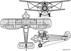 bristol bullpup 1928 england model airplane plan