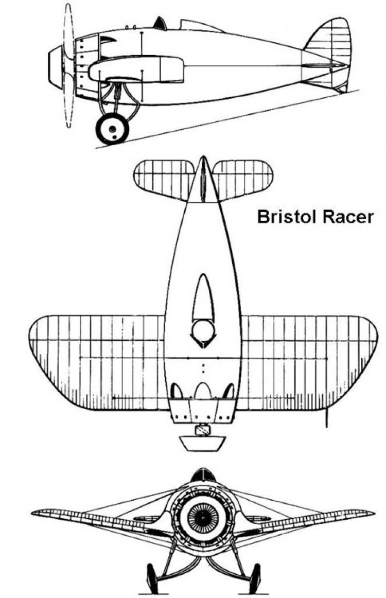 bristol racer 3v model airplane plan