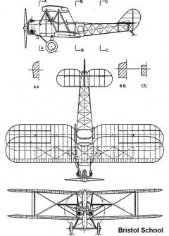 bristol school 3v model airplane plan