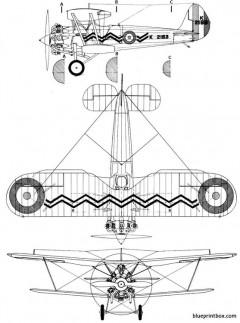 bristolbulldog model airplane plan