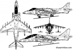 british aerospace av 8b harrier model airplane plan