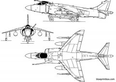 british aerospace frsmk1 sea harrier model airplane plan