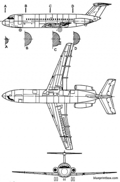 british aerospacebac 111 model airplane plan