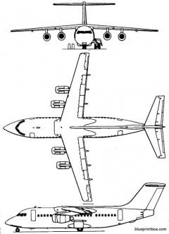 british aerospacebae 146 model airplane plan