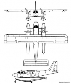 britten norman bn 2islander model airplane plan
