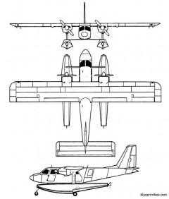 britten norman bn 2islander model airplane plan