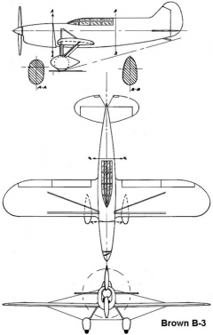 brown b3 3v model airplane plan