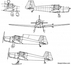 bucker bu 181bestmann model airplane plan
