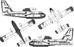 canadair bombardier cl 415 fire bomber model airplane plan