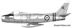 canadair cl 13 mk ii sabre model airplane plan