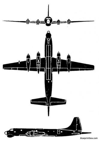 canadair cl 28 argus model airplane plan