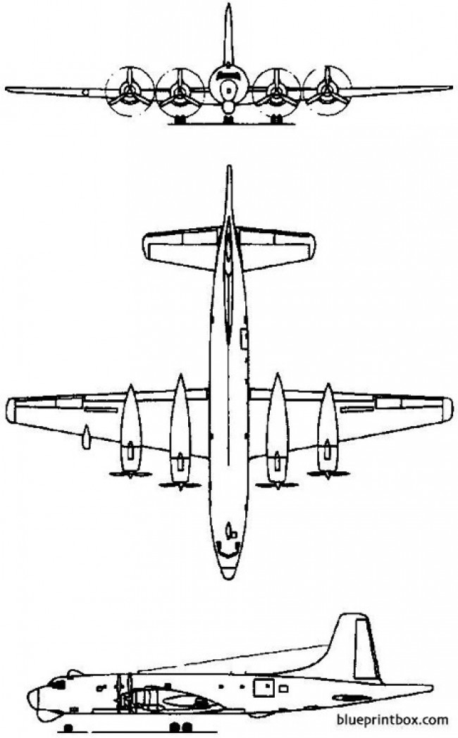canadair cl 28 argus 1957 canada model airplane plan