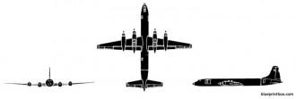 canadair cl 44 yukon model airplane plan