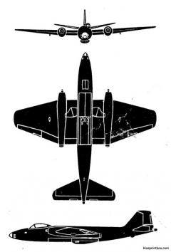 canberra b 8 model airplane plan