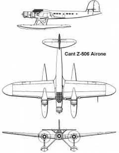 cant airone 3v model airplane plan
