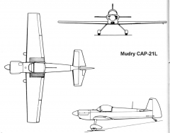 cap21l 3v model airplane plan