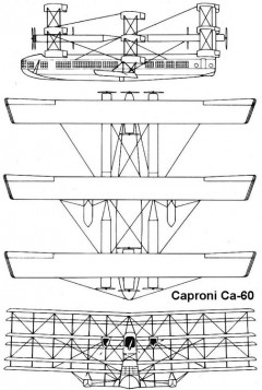 caproni60 3v model airplane plan