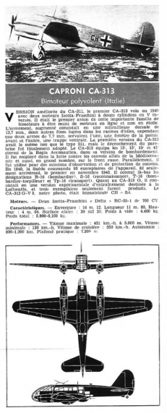 caproni ca313 model airplane plan