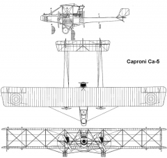 caproni ca5 3v model airplane plan
