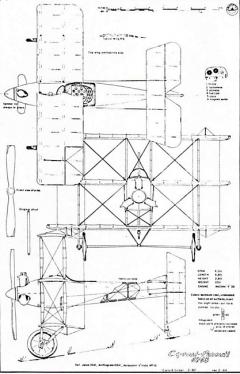 Caproni Pensuti Triplane model airplane plan