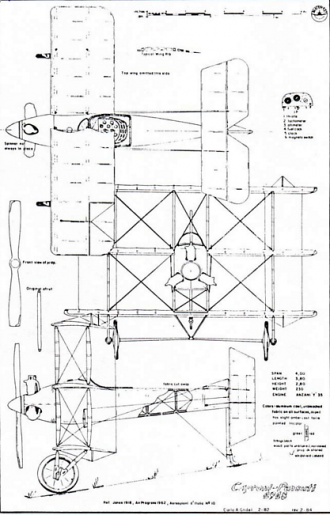 Caproni Pensuti Triplane model airplane plan