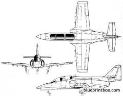 casa c 101 aviojet model airplane plan