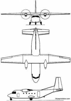 casa c 212 aviocar 1971 spain model airplane plan