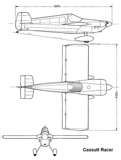 cassutt 3v model airplane plan