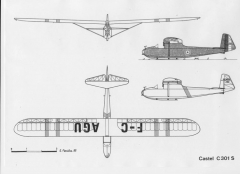 castel c301 model airplane plan