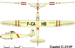 castel c311p 3v model airplane plan