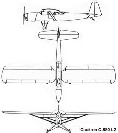caudron880 3v model airplane plan