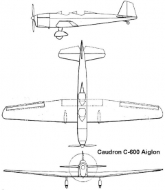 caudron aiglon 3v model airplane plan