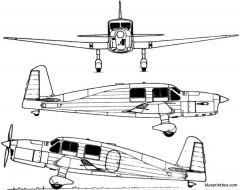 caudron c 635 simoun model airplane plan